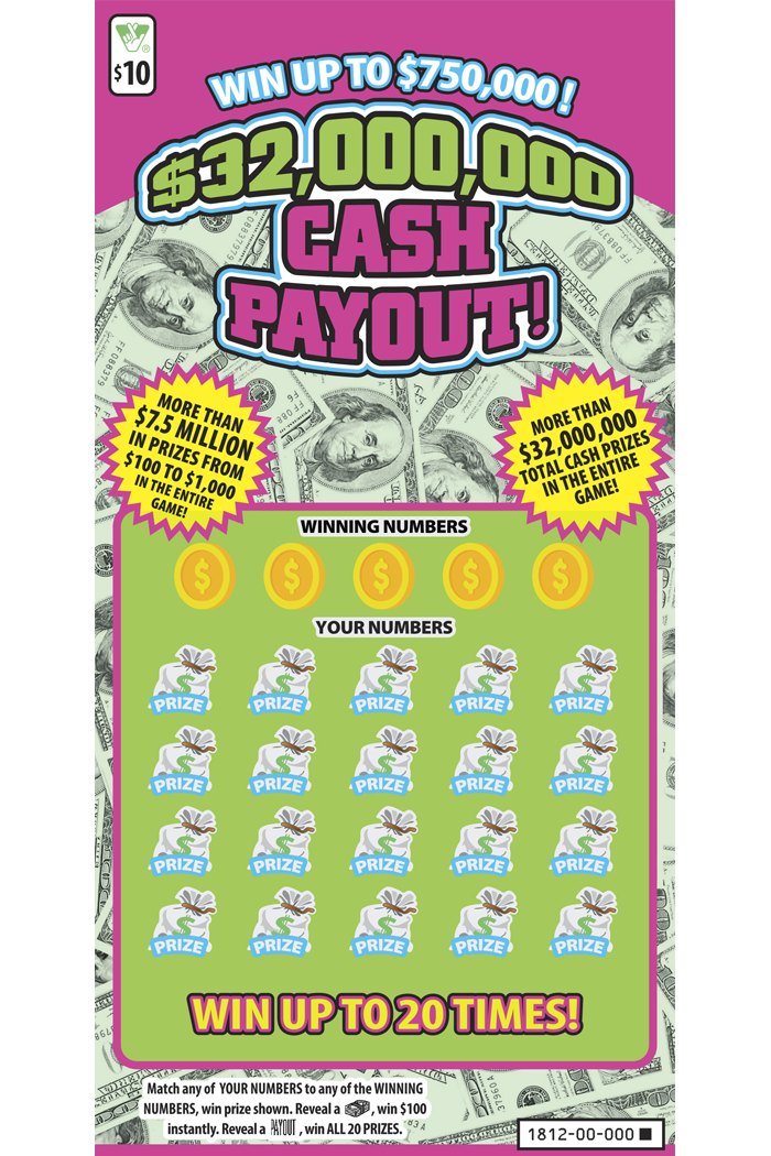 $32,000,000 Cash Payout! Scratcher | Virginia Lottery